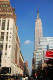 Empire State Building- und Macy's-Kaufhaus Stockfotografie