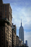 Empire State Building van de straten van de Stad van New York Royalty-vrije Stock Foto