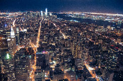 Empire State Building View. View from the top of the Empire State Building at night Stock Images