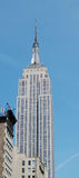 Empire State building viewed from below Stock Image