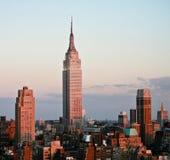 Empire State Building vor Sonnenuntergang Lizenzfreies Stockfoto