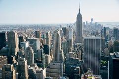 Empire State Building w Miasto Nowy Jork linii horyzontu Fotografia Royalty Free