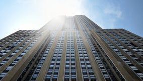Empire State Building z słońcem Obrazy Royalty Free