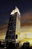 Empire State Building zmierzch Zdjęcia Royalty Free