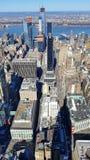 Empire State Buildingmening van Manhattan stock foto's
