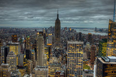 Empire State Buillding at dusk Royalty Free Stock Photography
