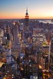 Empire State de New York City Manhattan Imagen de archivo libre de regalías