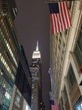 Empire State en la noche Foto de archivo libre de regalías