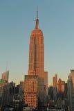 Empire State en la oscuridad Foto de archivo libre de regalías