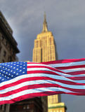 Empire state with flag Stock Photo