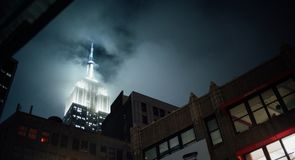 Empire State in a Fog royalty free stock images