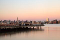 Empire State, NYC midtown manhattan skyline at dusk Royalty Free Stock Images