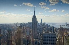 Empire State`s surroundings from the Top of the Rock royalty free stock photography