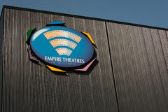 Empire Theatres. TRURO, CANADA - FEBRUARY, 2014: Empire Theatres sign. Empire Theatres, a movie theatre chain, announced in 2013 it would sell most locations to Royalty Free Stock Photo