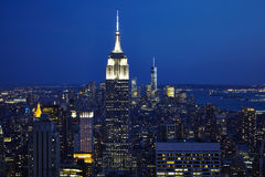 EmpireState tower in the Night time. New York EmpireState heaven on earth Royalty Free Stock Image