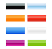 Empity Web Button Set [05]. A Great Glossy Empity Web Buttons Collection Stock Images