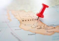 Emplacement de carte du Mexique Photographie stock libre de droits