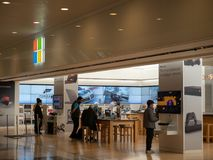 Emplacement de magasin de Microsoft à San Francisco photo stock