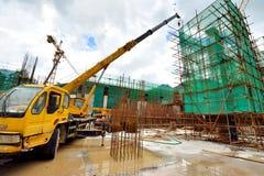 Emplacement de travail de construction de métro, Shenzhen, Chine Image libre de droits
