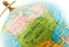 emplacement Etats-Unis de globe Photos libres de droits