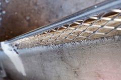 Emplastrando o grânulo do metal Foto de Stock