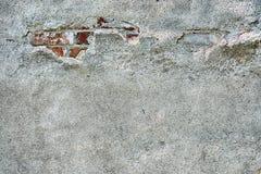 Emplastro velho do cimento e tijolo vermelho velho Imagem de Stock Royalty Free