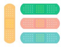 Emplastros esparadrapos sanitários coloridos ilustração royalty free