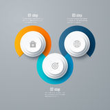 Emplate for cycle diagram, graph, presentation Royalty Free Stock Photo