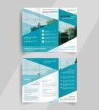 Emplate ripiegabile di progettazione della disposizione dell'opuscolo di affari Immagini Stock