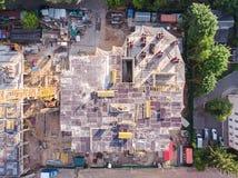 Emplazamiento de la obra civil visto desde arriba imagenes de archivo