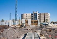 Emplazamiento de la obra de la propiedad horizontal del Highrise Fotos de archivo