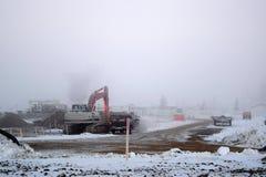 Emplazamiento de la obra de niebla Foto de archivo