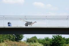 Emplazamiento de la obra de puente Imagen de archivo