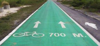 Emplazamiento de la obra de una pista de la bicicleta Fotos de archivo