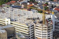 Emplazamiento de la obra del edificio del estacionamiento Imagenes de archivo