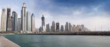Emplazamiento de la obra del puerto deportivo de Dubai Fotografía de archivo