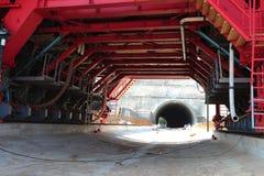Emplazamiento de la obra del túnel Foto de archivo libre de regalías