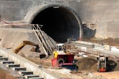 Emplazamiento de la obra del túnel Imágenes de archivo libres de regalías
