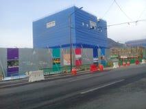Emplazamiento de la obra en curso en la ciudad de Chuncheon en la provincia del kangwon imagenes de archivo