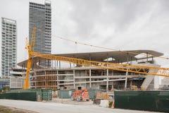 Emplazamiento de la obra en el Midtown Miami Foto de archivo