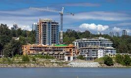 Emplazamiento de la obra en el Riverbank Fotos de archivo libres de regalías