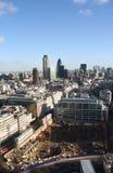 Emplazamiento de la obra en la ciudad de Londres Imagen de archivo libre de regalías