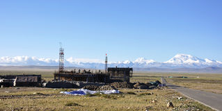 Emplazamiento de la obra en Tíbet Imagen de archivo libre de regalías