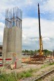 Emplazamiento de la obra ferroviario del tren del edificio en Bangkok Tailandia Fotos de archivo