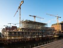 Emplazamiento de la obra Hafencity Hamburgo fotos de archivo libres de regalías