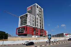 Emplazamiento de la obra de los rascacielos en Herzliya fotos de archivo libres de regalías