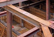 Emplazamiento de la obra subterráneo imagen de archivo
