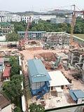 Emplazamiento de la obra típico en Singapur Fotografía de archivo