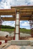 Emplazamiento de la obra de un puente de la autopista imágenes de archivo libres de regalías