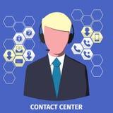 Empleado de centro del contacto Foto de archivo libre de regalías
